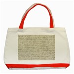 Handwritten Letter 2 Classic Tote Bag (Red) Front