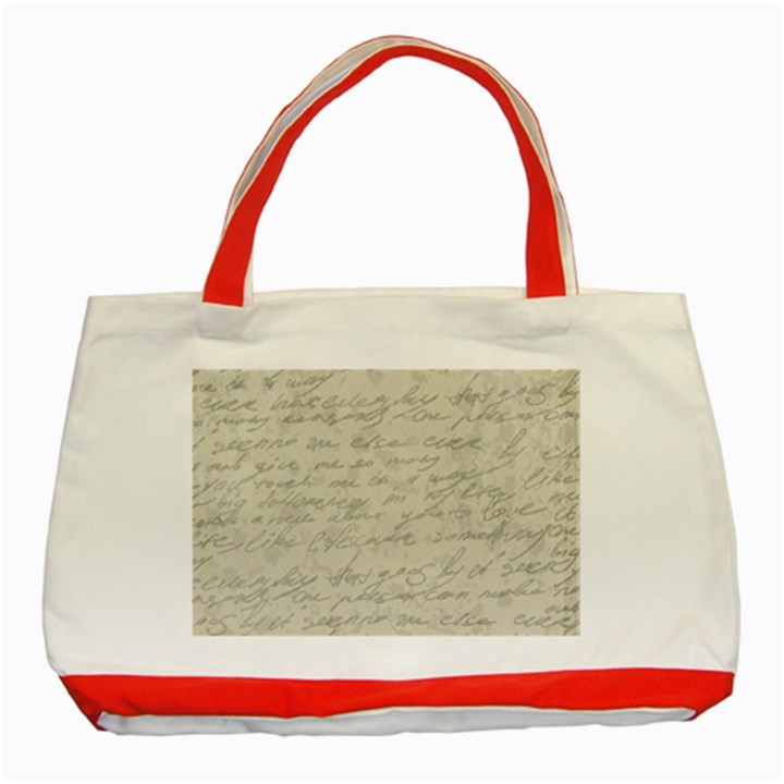 Handwritten Letter 2 Classic Tote Bag (Red)