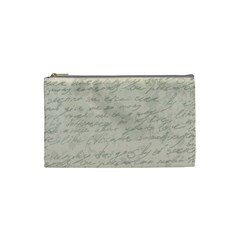 Handwritten Letter 2 Cosmetic Bag (small) by vintage2030