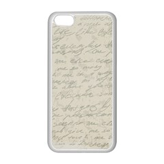 Handwritten Letter 2 Apple Iphone 5c Seamless Case (white) by vintage2030