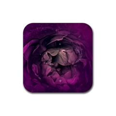 Wonderful Flower In Ultra Violet Colors Rubber Square Coaster (4 Pack)  by FantasyWorld7