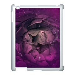 Wonderful Flower In Ultra Violet Colors Apple Ipad 3/4 Case (white) by FantasyWorld7