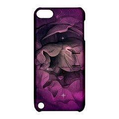 Wonderful Flower In Ultra Violet Colors Apple Ipod Touch 5 Hardshell Case With Stand by FantasyWorld7