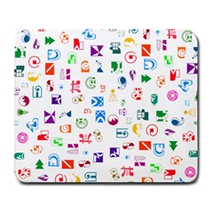 Colorful Abstract Symbols Large Mousepads by FunnyCow