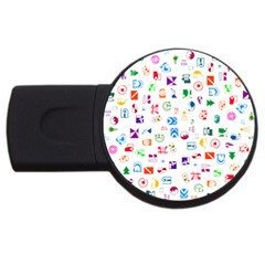 Colorful Abstract Symbols Usb Flash Drive Round (2 Gb)