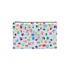 Colorful Abstract Symbols Cosmetic Bag (small) by FunnyCow