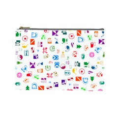 Colorful Abstract Symbols Cosmetic Bag (large) by FunnyCow