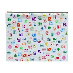 Colorful Abstract Symbols Cosmetic Bag (xl) by FunnyCow