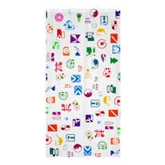 Colorful Abstract Symbols Shower Curtain 36  X 72  (stall)  by FunnyCow