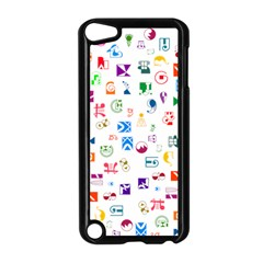 Colorful Abstract Symbols Apple Ipod Touch 5 Case (black) by FunnyCow