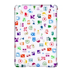 Colorful Abstract Symbols Apple Ipad Mini Hardshell Case (compatible With Smart Cover) by FunnyCow