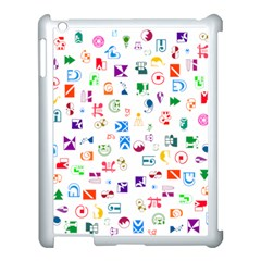 Colorful Abstract Symbols Apple Ipad 3/4 Case (white) by FunnyCow
