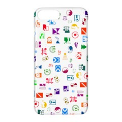 Colorful Abstract Symbols Apple Iphone 8 Plus Hardshell Case by FunnyCow