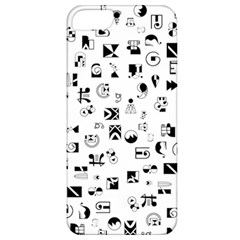 Black Abstract Symbols Apple Iphone 5 Classic Hardshell Case by FunnyCow