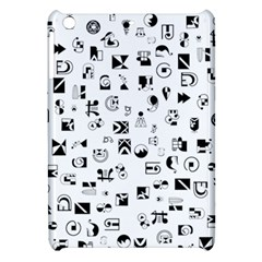 Black Abstract Symbols Apple Ipad Mini Hardshell Case by FunnyCow