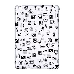 Black Abstract Symbols Apple Ipad Mini Hardshell Case (compatible With Smart Cover) by FunnyCow