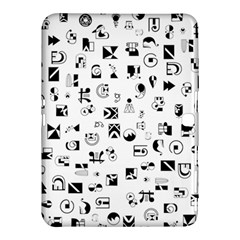 Black Abstract Symbols Samsung Galaxy Tab 4 (10 1 ) Hardshell Case  by FunnyCow