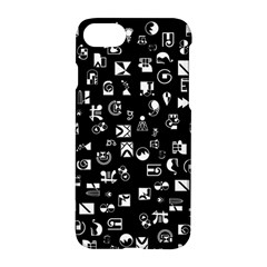White On Black Abstract Symbols Apple Iphone 8 Hardshell Case by FunnyCow