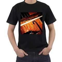 Cello Performs Classic Music Men s T Shirt (black) (two Sided) by FunnyCow