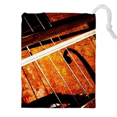 Cello Performs Classic Music Drawstring Pouch (xxl) by FunnyCow