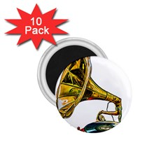 Vintage Gramophone 1 75  Magnets (10 Pack)  by FunnyCow