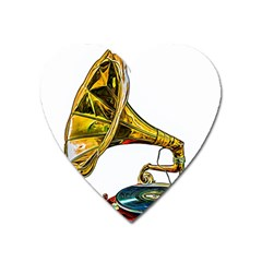 Vintage Gramophone Heart Magnet by FunnyCow