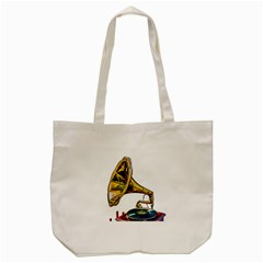 Vintage Gramophone Tote Bag (cream) by FunnyCow