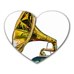 Vintage Gramophone Heart Mousepads by FunnyCow