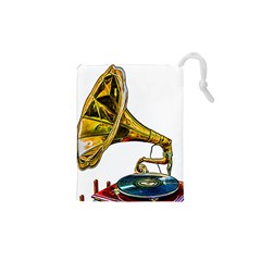 Vintage Gramophone Drawstring Pouch (xs) by FunnyCow