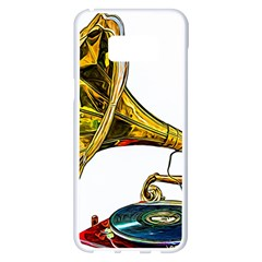 Vintage Gramophone Samsung Galaxy S8 Plus White Seamless Case by FunnyCow
