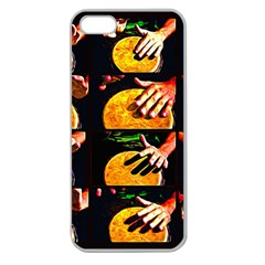 Drum Beat Collage Apple Seamless Iphone 5 Case (clear) by FunnyCow