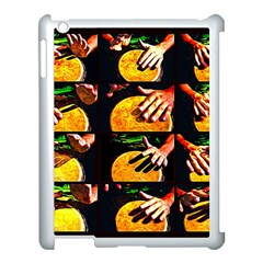 Drum Beat Collage Apple Ipad 3/4 Case (white) by FunnyCow