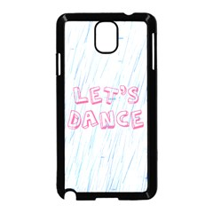 Let Us Dance Samsung Galaxy Note 3 Neo Hardshell Case (black)