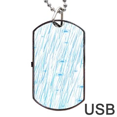 Let It Rain Dog Tag Usb Flash (two Sides) by FunnyCow