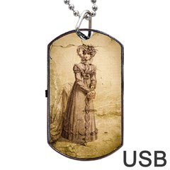 Lady 2507645 960 720 Dog Tag Usb Flash (one Side) by vintage2030