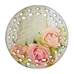 Roses 2218680 960 720 Round Filigree Ornament (two Sides) by vintage2030