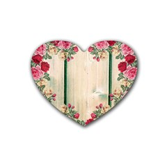 Roses 1944106 960 720 Rubber Coaster (heart)  by vintage2030