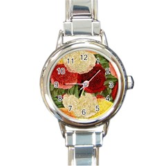 Flowers 1776429 1920 Round Italian Charm Watch by vintage2030