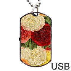 Flowers 1776429 1920 Dog Tag Usb Flash (two Sides) by vintage2030