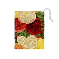Flowers 1776429 1920 Drawstring Pouch (medium) by vintage2030