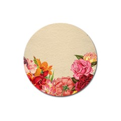 Flower 1646035 1920 Magnet 3  (round) by vintage2030