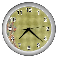 Background 1619142 1920 Wall Clock (silver) by vintage2030