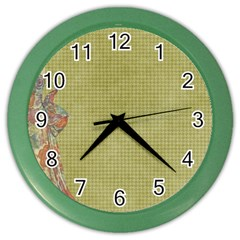 Background 1619142 1920 Color Wall Clock by vintage2030