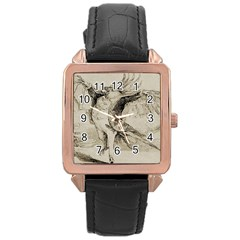 Bird 1515866 1280 Rose Gold Leather Watch