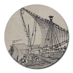 Ship 1515860 1280 Round Mousepads