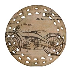 Motorcycle 1515873 1280 Ornament (round Filigree) by vintage2030