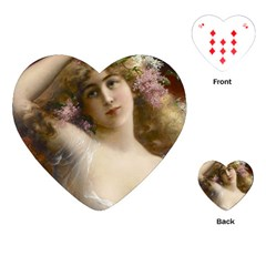 Victorian Lady In Pink Playing Cards (heart)  by vintage2030