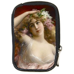 Victorian Lady In Pink Compact Camera Leather Case by vintage2030