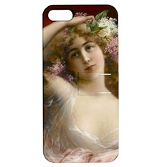 Victorian Lady In Pink Apple Iphone 5 Hardshell Case With Stand by vintage2030