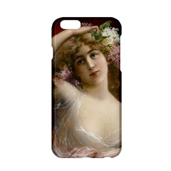 Victorian Lady In Pink Apple Iphone 6/6s Hardshell Case by vintage2030